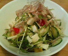 山芋と水菜のねばねばサラダ