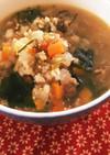 牛肉と昆布の和風雑穀スープ