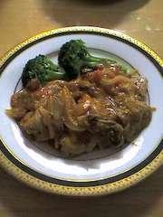 豚肉のソテー トマトマスタードソースの写真