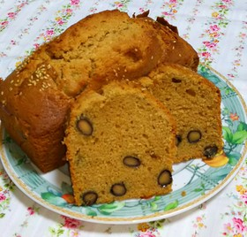 黒豆&きな粉のパウンドケーキ