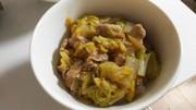 白菜と豚バラ肉のしょうが丼の写真