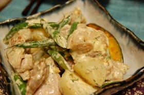 鶏肉とジャガイモのディルソース