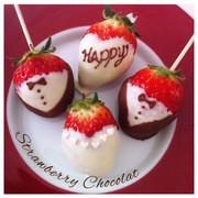 バレンタインに簡単可愛いいちごチョコ*の写真