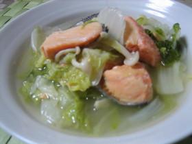 超簡単★白菜と鮭の蒸し煮