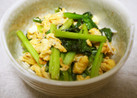 小松菜と卵のマヨ醤油炒め