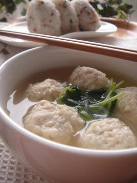 ふわっふわ団子のヘルシー中華スープ