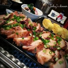 炊飯器で蒸して♬炙り鶏チャーシュー