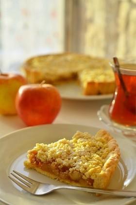 トルコのお菓子☆林檎のクランブルタルト