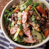 ソーセージと豆のマスタードサラダ