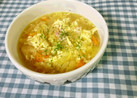 野菜玉子コンソメバタースープ