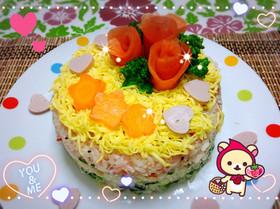 ひな祭りに♡ちらし寿司ケーキ