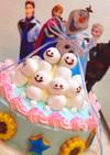 アナ雪ケーキ♡スノーギースも!