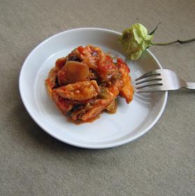 鶏胸肉と春キャベツのトマトソース煮