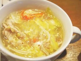 白菜と春雨ガーリックスープ