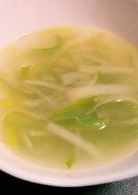 簡単ねぎの中華スープ