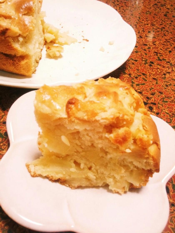 生りんごの卵なしアップルケーキ