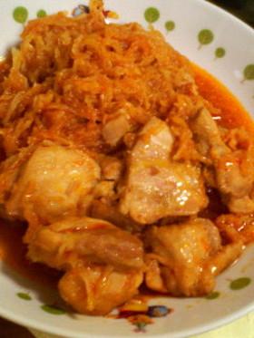 切干大根&鶏肉のピリ辛煮