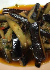 台湾家庭料理-紅焼茄子-茄子の豆瓣醬炒め
