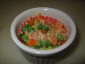 忙しい朝に☆お弁当用冷凍野菜のチーズ焼き
