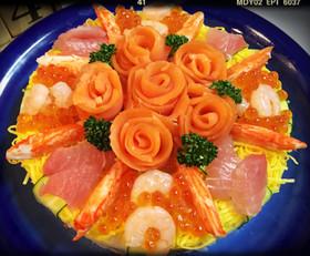 ☆簡単で豪華なちらし寿司ケーキ☆