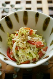 m白菜のかつおマヨ和えの写真