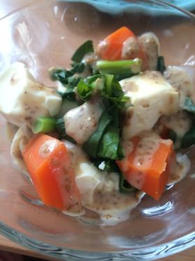 簡単☆豆腐でヘルシー温野菜サラダ