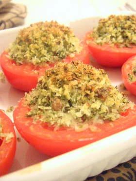 トマトのイタリアンパン粉焼き