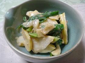旬のお惣菜♪筍とわけぎの酢味噌和え