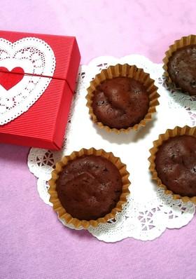 バレンタインに♡簡単チョコプチケーキ