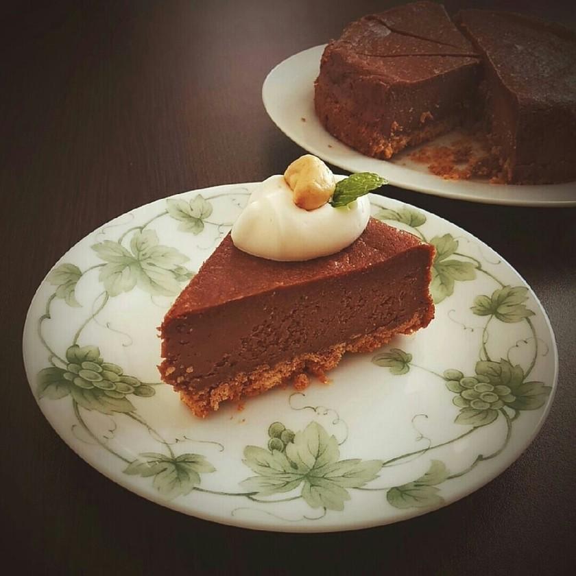 バレンタイン☆濃厚チョコチーズケーキ