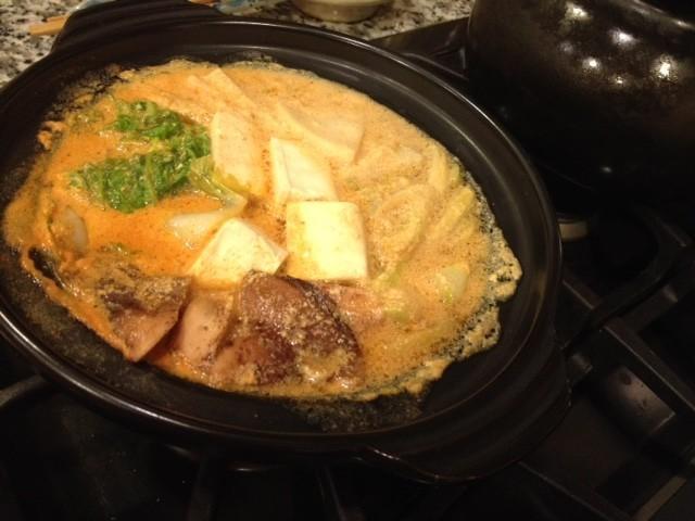 コチュジャン豆乳鍋