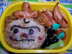 幼稚園のお弁当(焼きそばパンマン)