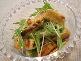 水菜&お揚げのサラダ☆胡麻マヨソース