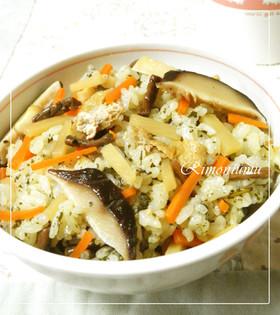 緑茶で筍とぜんまいの炊き込み混ぜご飯♪
