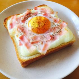 簡単とろ〜り*カルボナーラトースト