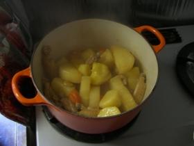 手羽中と根菜の煮物
