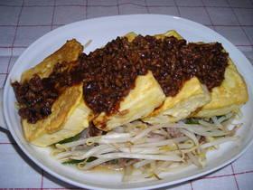 豆腐ステーキ・肉味噌かけ