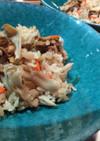 牡蠣やあさりの佃煮で簡単炊き込み御飯