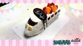 新幹線の誕生日ケーキ