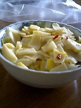 筍のシンプルな塩炒め