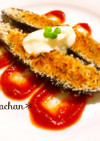 茄子バシルチーズパン粉焼き