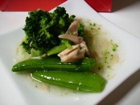 緑の野菜とツナ 鶏がら味サラダ