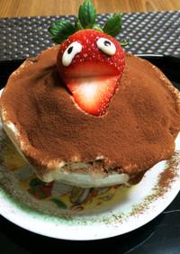 カップケーキ風ティラミスのかき氷
