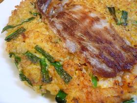 チヂミ風☆卵ご飯のお焼き