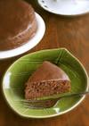 明治ミルクチョコレートのチョコケーキ