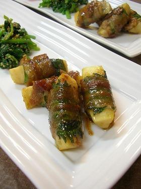 筍の豚バラ巻き♪柚子胡椒風味