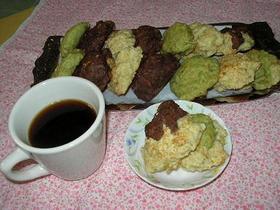 ノンオイル豆腐バナナ三色クッキー