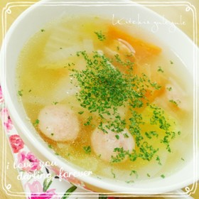 白菜&ベーコンのコンソメスープ