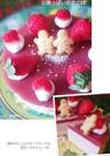しっとりヨーグルトチーズケーキ&苺ムース