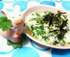 さっぱり☆ワサビ風味♪♪長芋トロロれん草
